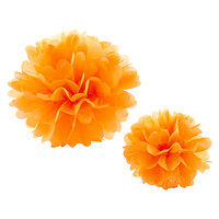 Orange Tissue Paper Pom Pom Kits