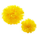 Yellow Tissue Paper Pom Pom Kits