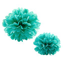 Diamond Blue Tissue Paper Pom Pom Kits