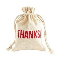 """Thanks"" Muslin Treat Sacks"