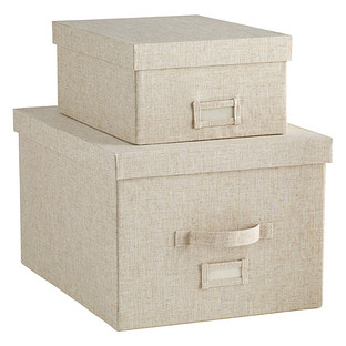 Linen Cambridge Storage Boxes
