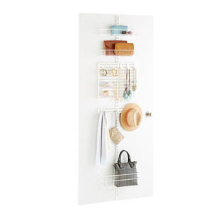 White Elfa Utility Closet Door & Wall Rack Solution