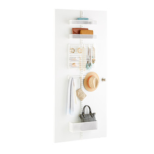 White elfa utility Mesh Closet Door & Wall Rack Solution