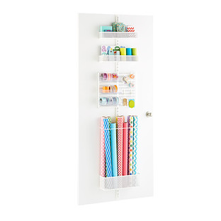 White Elfa Utility Mesh Gift Packaging Door & Wall Rack
