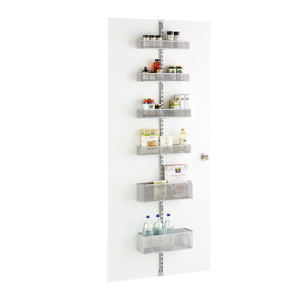 platinum elfa utility mesh pantry door wall rack solution the container store. Black Bedroom Furniture Sets. Home Design Ideas