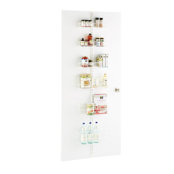 White elfa utility Pantry Door & Wall Rack