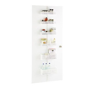 White Elfa Utility Mesh Pantry Door & Wall Rack Solution