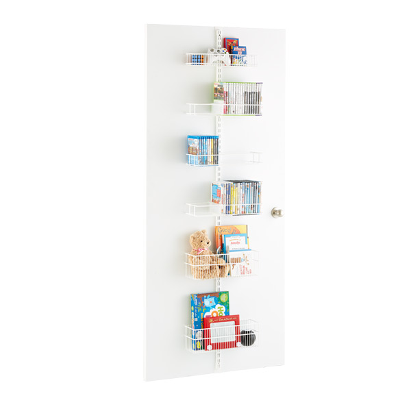 White Media Room Door & Wall Rack Solution