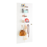White elfa utility Drop Zone Door & Wall Rack Solution