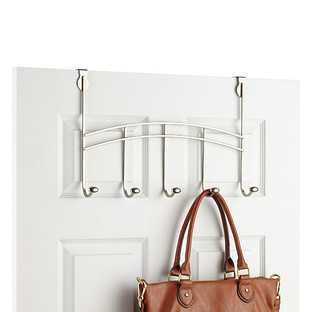 Nickel Duchess 5-Hook Over the Door Rack