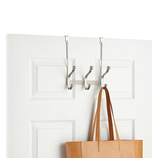 InterDesign York Over the Door Coat & Hat Rack