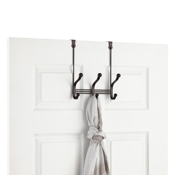 iDesign Bronze York Over the Door Coat & Hat Rack