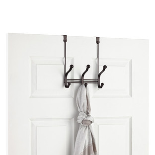 InterDesign Bronze York Over the Door Coat & Hat Rack