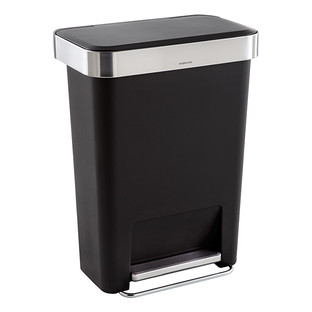 stainless steel trash cans the container store. Black Bedroom Furniture Sets. Home Design Ideas
