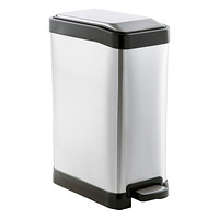 Stainless 2 gal. Rectangle Step Can