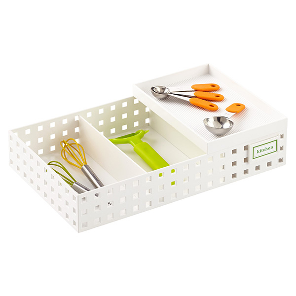 White Like-it Bricks Kitchen Utensil Organizer