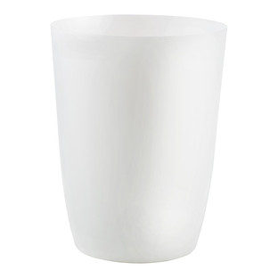 Umbra White Metallic Matte Suede Trash Can