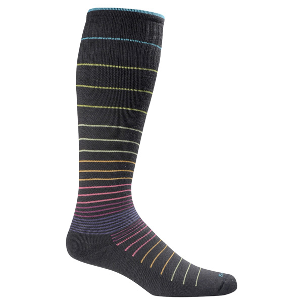 Medium/Large Multi Stripe Compression Socks