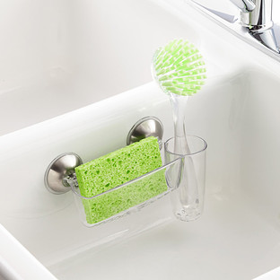 iDesign Power Lock Sink Cradle with Brush Holder