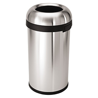 simplehuman stainless steel 158 gal bullet open trash can