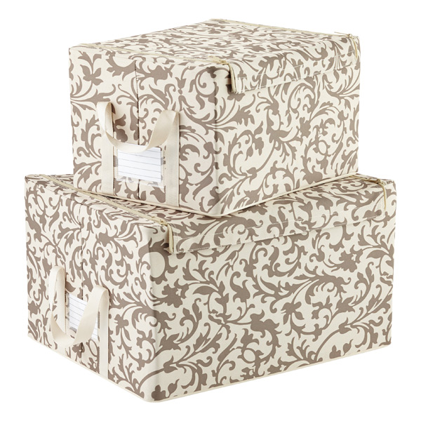 Baroque Latte Fabric Storage Boxes by reisenthel