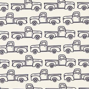 Vintage Trucks Wrapping Paper Sheets