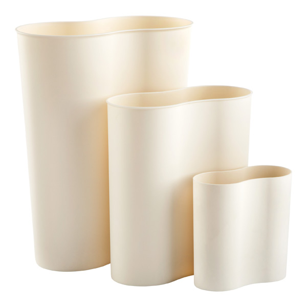 White Eco Cocoon Trash Bins