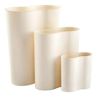 White Bathroom Garbage Cans black eco cocoon trash can | the container store