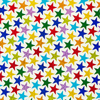 Colorful Stars Gift Wrap