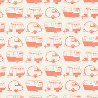Vintage Campers Gift Wrap Sheets