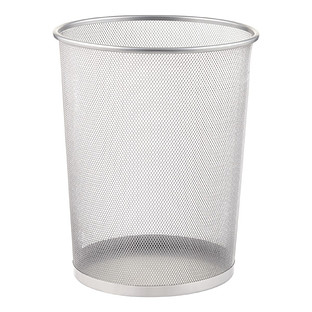 Silver Mesh Trash Can