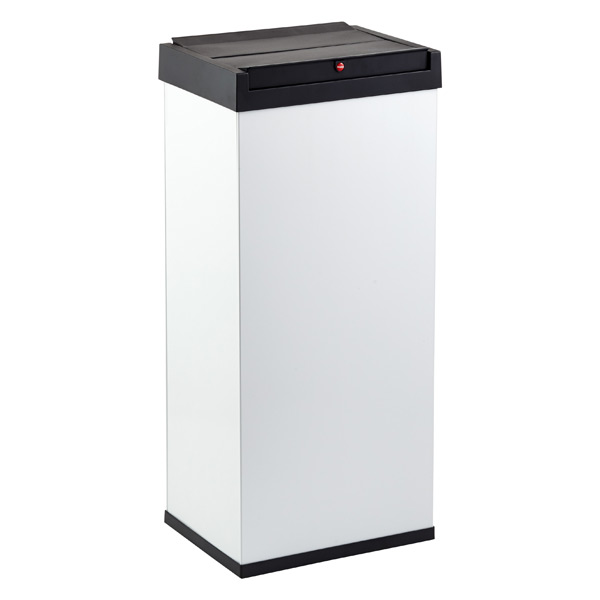 white 15 8 gal big box swing lid trash can the container store. Black Bedroom Furniture Sets. Home Design Ideas