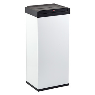 White 13.7 gal. Big-Box Swing Lid Trash Can