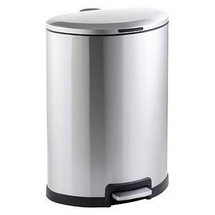Stainless Steel 12 gal. Oval Step Trash Can