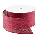 Pink Glitter Metallic Ribbon