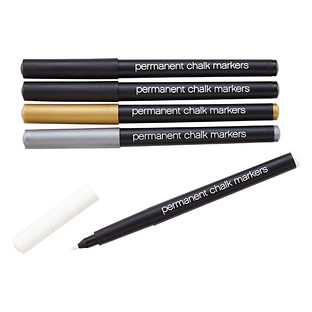 Permanent Metallic Chalk Markers