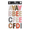 Kraft Chevron Large Uppercase Alphabet Stickers