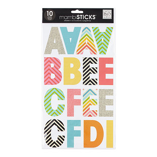 Chevron Large Uppercase Alphabet Stickers