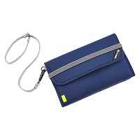 Navy RFID-Blocking Travel Wallet