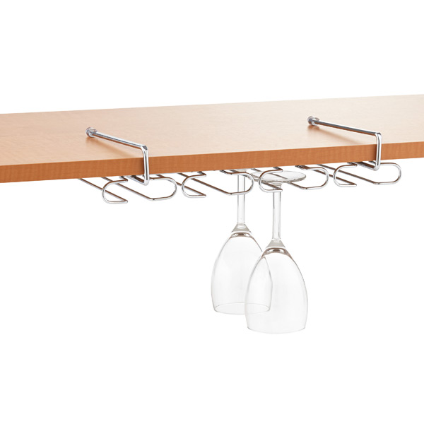 Chrome Undershelf Wine Glass Rack The Container Store