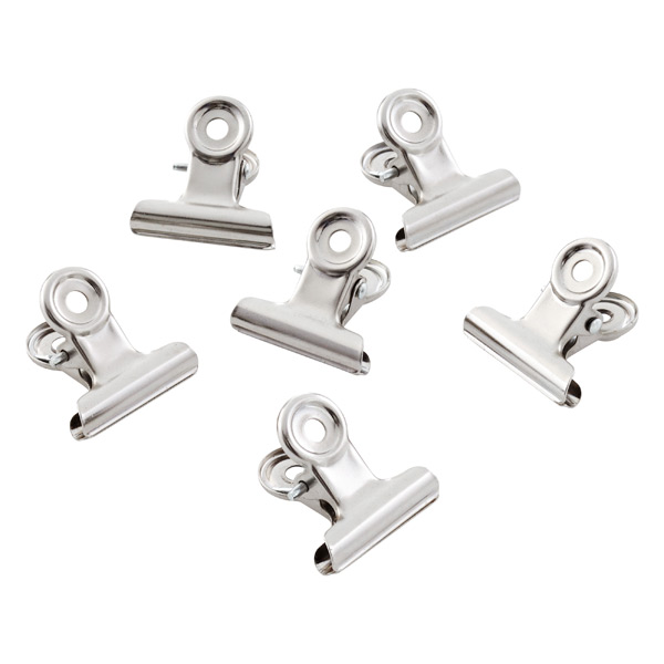 Three by Three Stainless Steel Mini Bulldog Clip Magnets