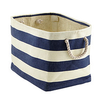 Navy & Ivory Rugby Stripe Bins Product Image