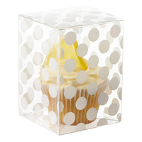 Clear Treat Box with White Dots