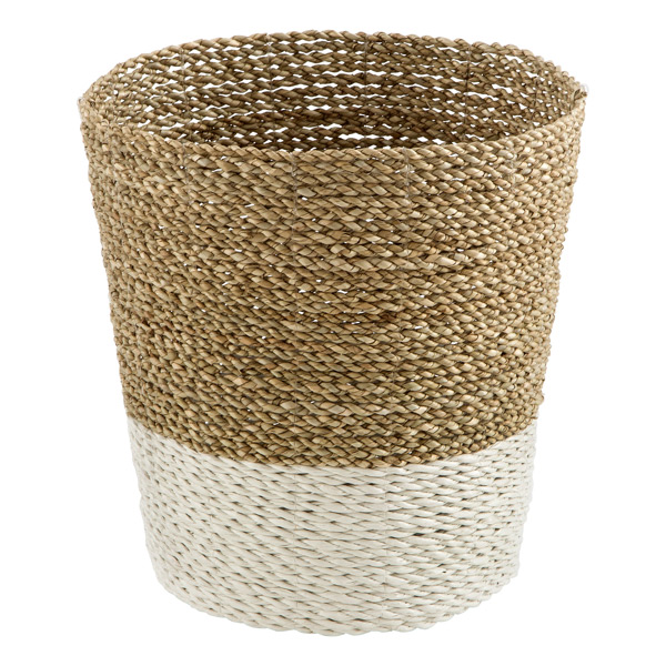 Beach House Hand-Woven Trash Can