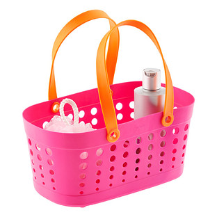 Casabella Pink & Orange Flexible Shower Basket