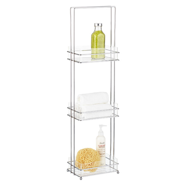 Acrylic & Chrome 3-Tier Tray Tower