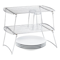 Large Chrome Stacking Shelf