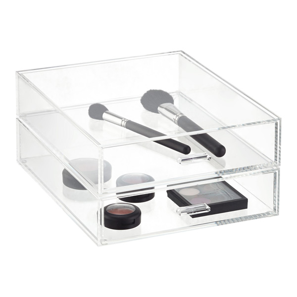 Portrait Acrylic Paper Drawer The Container Store