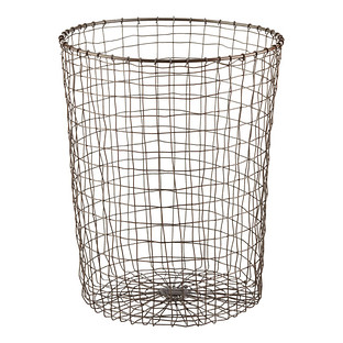 Rustic Marché Steel Trash Can