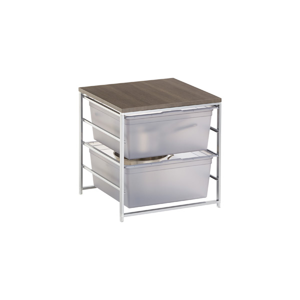 Smoke Cabinet-Sized elfa Solid 2-Drawer Solution